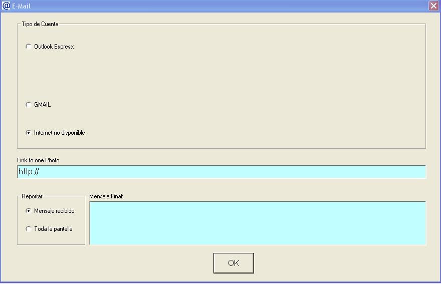 Fig. 5 Configuración del e-mail